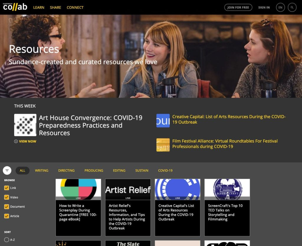 Sundance Brings Free Filmmaking Resources To The Public - Indie Shorts Mag